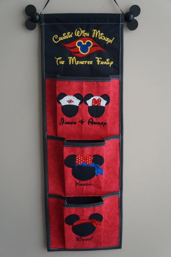 3 Pocket Fish Extender For Your Disney Cruise - Pick Colors, Top & Pocket Designs With Names