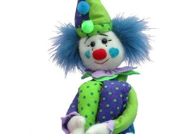 Casper Clown soft toy sewing pattern
