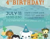 Custom Octonauts Inspired Birthday Party Invitations