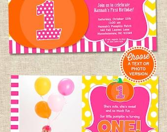 Pumpkin Patch Party Invitation | Pumpkin Birthday Invitation | Pumpkin Party Invitation | Thanksgiving Birthday | Amanda's Parties To Go