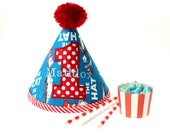 Dr Seuss Cat in the Hat Fabric Birthday Hat