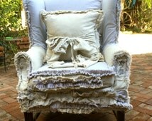 Slip Covered Wing Back Chairs