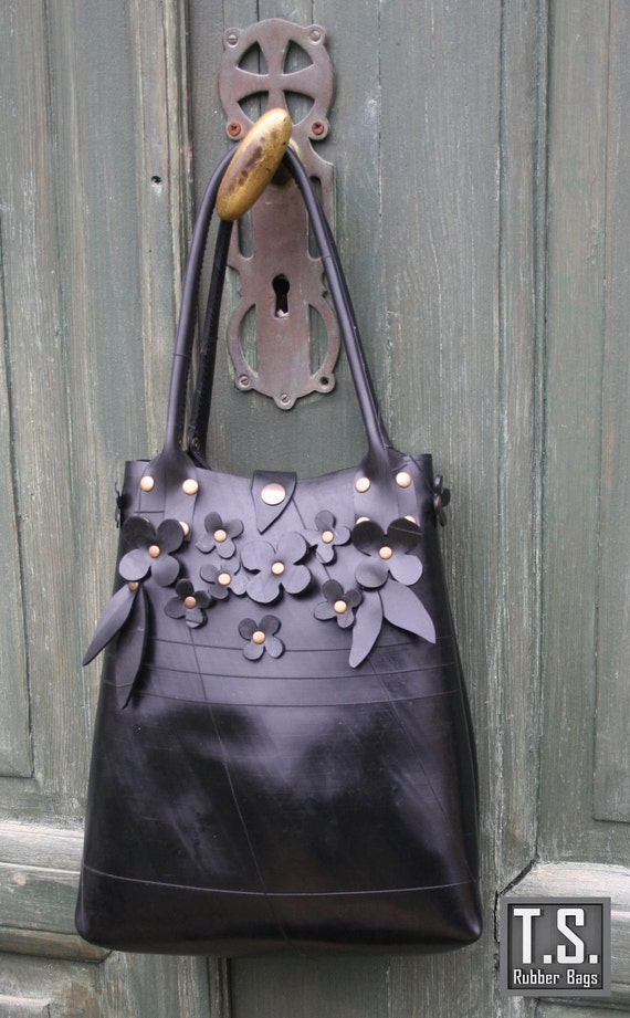 Recycled Eco Rubber Flower Bag
