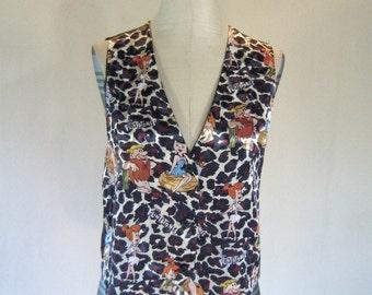 1990s Flintstones Novelty Print Vest Top