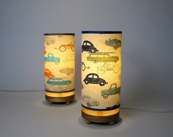 Retro Rides Bedside Lamp with cars