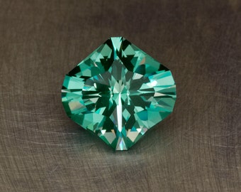 Green Spinel 6.83ct Loose Lab Created Flame Fusion Modern Faceted Gemstone