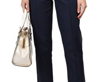 Brand New Vintage Style Navy Cigarette Trousers Pin Up Rockabilly 50s Style