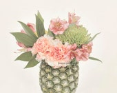 Pineapple Print, Pineapple Photography, Still Life Photography, Pineapple Art, Pineapple Decor, Green and Pink Pineapple Art, Unique Kitchen