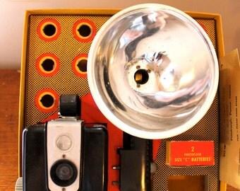 Say Cheese... Vintage Brownie Hawkeye Camera with Flash, Vintage Camera