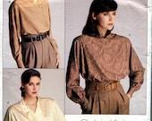 Vogue 1625 Calvin Klein Blouse Shirt American Designer B36 Uncut