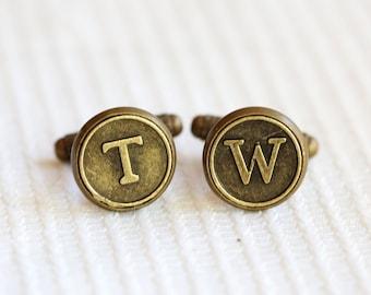 Personalize Cufflinks ,Groomsmen Cufflinks Gifts, Mens Cufflinks Initial Cufflinks Letter Cufflinks Monogram Cufflinks,Wedding Gift