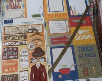 12x12 Grandpa Grandfather scrapbook page kits