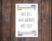 Not All Who Wander Print