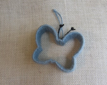 Blue Butterfly Twine Ornament, Nursery Decor, Blue Jute Twine Tree Ornament, Animal Ornament, Kids Room Decor