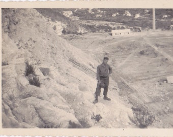 Norbit in France, 1944- 1940s Vintage Photograph- WWII Soldier- WW2 Photo- Wartime Picture- Paper Ephemera