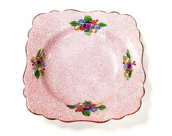 Crown Staffordshire Bowl 1930s Transfer and Hand Painted
