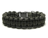 Paracord Bracelet Olive Drab Survival Accessory Military Armed Forces Army Veteran Outdoor Sports Boy Scout Unisex Gift First Responder Team