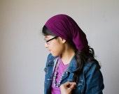 Plum Purple Long Stretch Knit Headcovering | Women's Headcovering Veil
