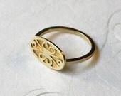 Gold Filigree ring, 14k Yellow Gold ring, 14 karat Gold ring, Gold ring for woman, Gold lace ring, Dainty Gold ring, Delicate Gold ring