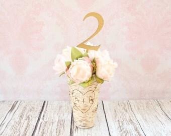 Rustic Elegance Glitter Table Numbers Wood Wedding Table Numbers Rustic Chic Wedding Centerpiece Table Numbers