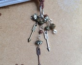 Arrows Book Thong Beaded Leather Bookmark Arrow Hunger Games Inspired