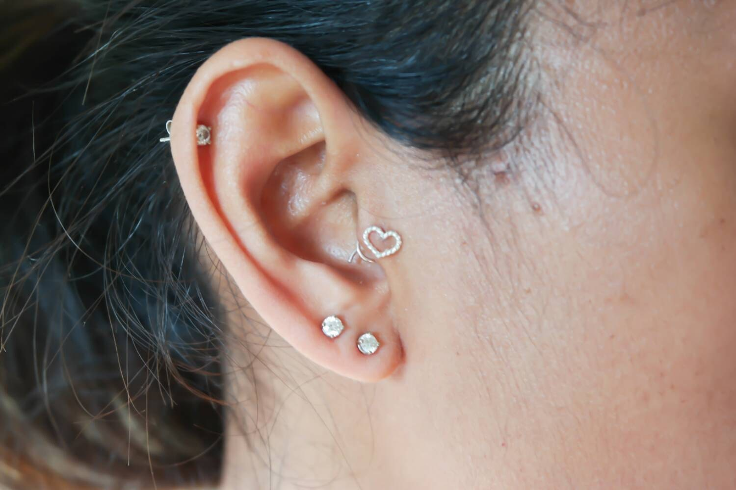 rope tragus coil earring unique sterling silver