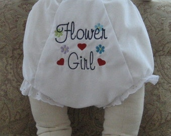 Bloomer Diaper Cover Flower Girl Diaper Cover Wedding Diaper Cover Personalized Bloomer Diaper Cover