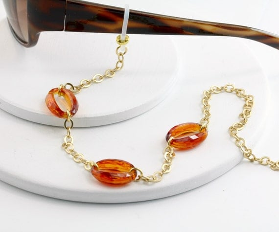 tortoise eyeglass chain lanyard glasses chain eyeglass