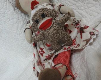 Sock Monkey and Minnie Doll