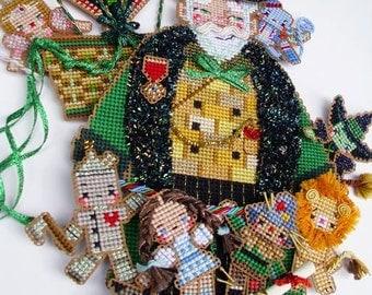 Spirit of Oz Santa Claus Chart Pack : Brooke's Books Cross Stitch Ornament Christmas Wizard of Oz fantasy