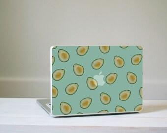 Avocado Pattern Macbook Decal - Turquoise and Green Avocado MacBook Laptop Skin