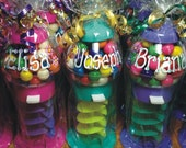 """Personalized Gumball Machine with 60 Gumballs - 7.25"""" TALL - Giftwrapped - Gumball Machine Favors / Gift - Candy Machine Gum / Party Favors"""