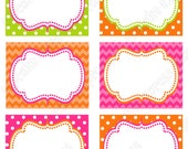 Pumpkin Patch  First Birthday girl orange pink green PRINTABLE Food Labels 1st birthday halloween fall -1050