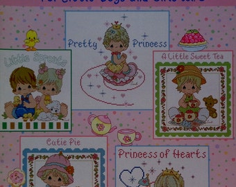 Sam Butcher Precious Moments FOR Little BOYS And GIRLS Vol 2 Gloria & Pat (Multiple Designs)  - Counted Cross Stitch Pattern Chart Booklet