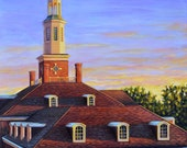 Fine Art Print- Deep in the Heart, Southern Sunset, Historical Judson College, Marion Alabama