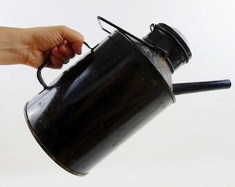 Vintage Big Enamel Oil Can