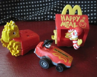 Vintage McDonald's Happy Meal Toys 1980's - 90's Ronald, Hamburgerlar, and Transformer