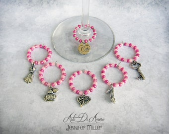 6 Bachelorette Party Wine Charms