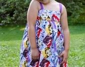 Disney Princess Fashion Hattie Dress- Handmade Children's Dress - Sizes 6 Months to 8 years