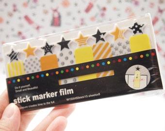 Star PVC Transparent sticky Note / Stick Marker Film / Post-it