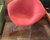 Vintage Chrome KNOLL Bertoia Diamond Chair with Cover
