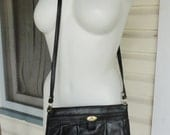 Etienne Aigner Black Leather Purse Cross Body Strap