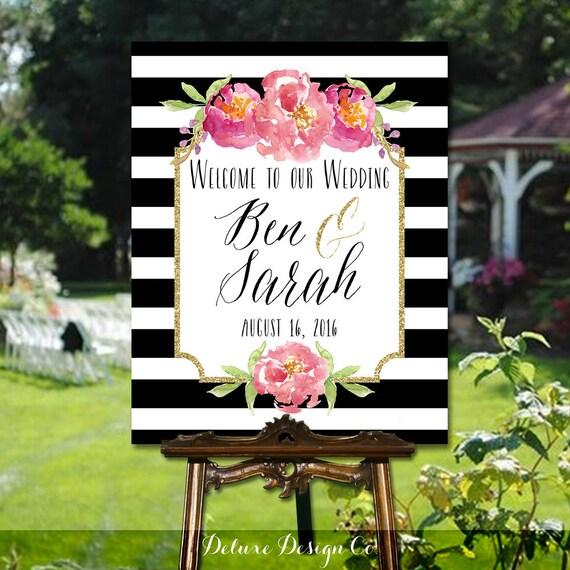 Etsy Wedding Signs: Wedding Welcome Sign Printable // PRINTABLE DIY Large Custom