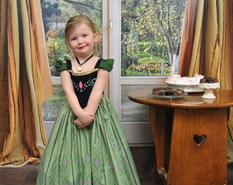 Anna's Coronation Dress - Sizes 2T, 3T, 4T, 5, 6, 7, 8 and 10