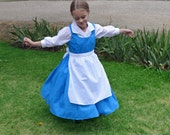 Belle Blue Village Peasant Provincial Life Costume Dress, Beauty and the Beast, Girl's