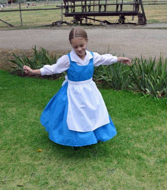 Belle Blue Village Peasant Provincial Life Costume Dress