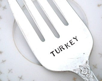 TURKEY - Turkey Meat Fork - Gift for Dad - Thanksgiving Table Setting - Grand Elegance 1959