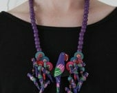 sale // funky parrot necklace