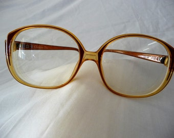 Christian Dior Optyl Vintage Glasses Honey Gold and Brown