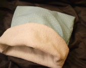 Large Mint Green Snuggle Sack for Small Animals - Super Soft Bamboo Fabric Lining